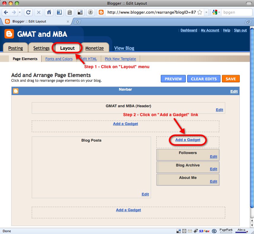 add the badge to a blogspot blog in 5 easy steps
