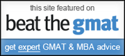 This Site is Featured on Beat the GMAT