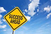 Success ahead sign